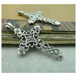 Jewelry - Cross Necklace, Easter, Scroll, Religious Pendant